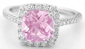 pink sapphires rings images 2 48 ctw checkerboard cut pink sapphire and diamond ring in 18k jpg