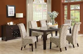 Decorating Ideas For Dining Rooms Dining Room Slipcover Parson Chairs With Wooden Floor And