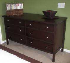 Dark Brown Changing Table by Custom Espresso Dresser And Nightstands By Grindstone Mill