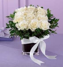 White Roses In A Vase Funeral Flowers For Condolences Sympathy Wreaths White Roses