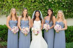 slate blue bridesmaid dresses santa barbara resort wedding from de vivre michael