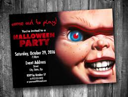 Chucky Halloween Party Invitation Personalized Digital
