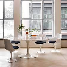 Knoll Dining Table by Knoll International Saarinen Tulip Chair By Eero Saarinen 1955