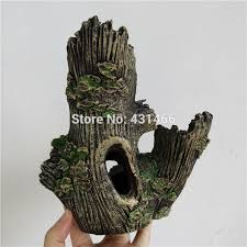 shop large aquarium ornament hollow tree roots log tunnel