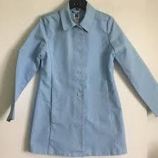 light blue trench coat gap jackets blazers nwot light blue beltless trench coat wm m