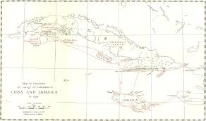Christopher Columbus Route Map by The Columbus Files The Discovery Contract Jamaican Echoes