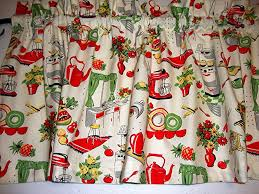 Retro Kitchen Curtains 1950s by Amazon Com Retro 1950 U0027s Kitchen Valance Curtain Window Treatment
