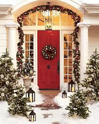 traditional front door with christmas decor u0026 pathway zillow
