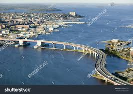 aerial downtown portland maine showing maine stock photo 108389714