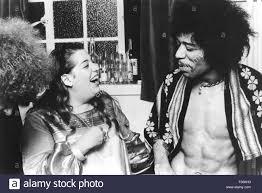 mama cass elliott us singer with jimi hendrix in 1969 stock photo