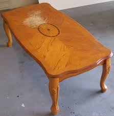 Stained Coffee Table How To Refinish A Coffee Table And Remove A Bad Water Stain