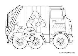 garbage truck coloring sheet free download
