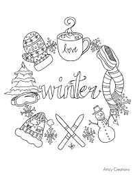 Coloring Pages Cool Winter Coloring Pages Free Winter Solstice Winter Coloring Pages Free