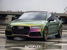 audi color changing car this color changing audi rs7 wrap is the future 6speedonline