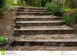holz fã r treppen treppe hergestellt vom holz im park stockfoto bild 40770440