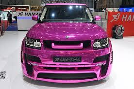 pink range rover 06 hamann mystere geneva