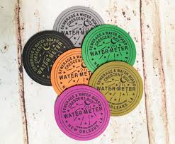 water meter new orleans assorted color water meter coasters forever new orleans