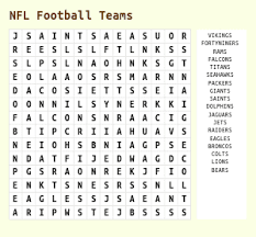 indoor and outdoor activities word search