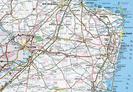 Nj Zip Code Map by Interstate Guide Interstate 195 New Jersey