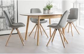Orson Chair 4 Seat Dining Set Grey Chairs U0026 Extendable Table Home