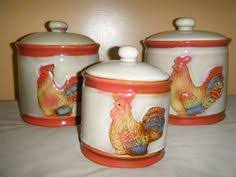 rooster kitchen canisters vintage georges briard rooster moderne kitchen canister set of