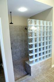 glass block bathroom ideas shower saten glass shower glass wall screen for privacy