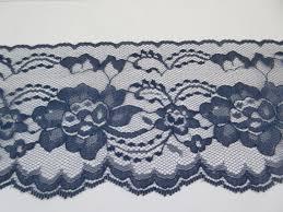 navy lace ribbon navy lace trim ribbon 4 inch wide blue floral lace flower design