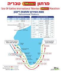 Gennesaret Map Sea Of Galilee Tiberias Marathon Jan 05 2018 World U0027s Marathons