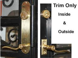 only steel security ornamental door trim kit brass