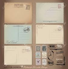 postcard clipart template pencil and in color postcard clipart