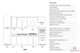 dimensioni piano cottura 5 fuochi cucina moderna line
