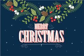 christmas garland template vector illustrations creative market