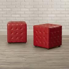Ottoman Cubes Cube Ottomans Poufs You Ll Wayfair