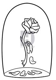 beauty beast rose drawing step step darkonator