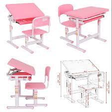 kids desk and chair homework study room adjustable desktop