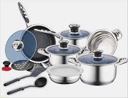 batterie de cuisine en inox batterie de cuisine inox luxe blaumann swiss huffeisen set de 16