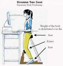 sit stand desk chair standing task chair places you halfway between standing and sitting