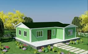 prefab house wiring of 80 square meters kit house home for