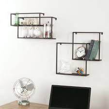 wall ideas metal wall shelving wood and metal shelving wall unit