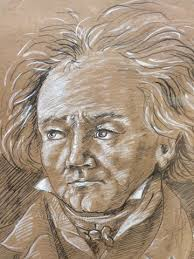 antiques atlas set of 4 ink pastel gouache sketches of composers