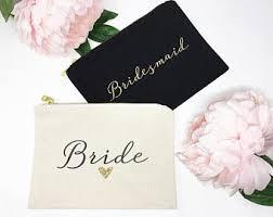 bridal party makeup bags set of 5 bridesmaid cosmetic bag bridal party makeup bag