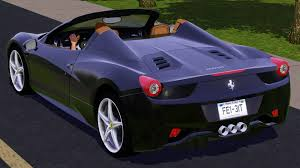 purple ferrari f12 fresh prince creations sims 3 2013 ferrari 458 spider