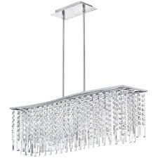 rectangular modern crystal chandelier lighting for large