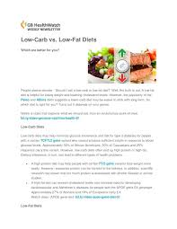 low carb vs low fat diets and your genes by gb healthwatch issuu