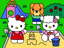 hello kitty in playground coloring book by kittykun123 on deviantart