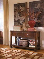 cross island sofa table ashley furniture t719 4 cross island console sofa table ebay