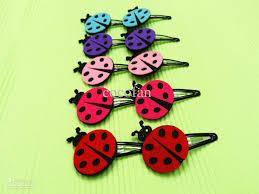 felt hair animals ladybug felt hair baby hair toddler hair clip