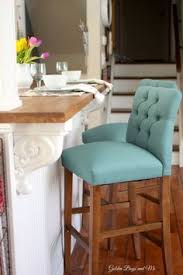 island kitchen stools these tufted bar chairs are a simple way to add pops of color to