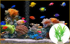 water weeds plastic simulation grass aquatic plant fish tank