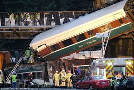 washington state amtrak train derails and falls on high daily